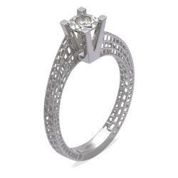 Ring aus 585 Weissgold mit einem 0,08 Karat Diamanten