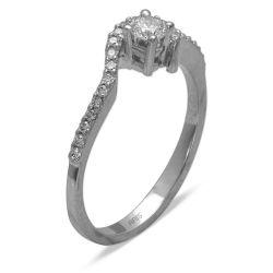 Ring aus 585 Weissgold mit  0,14 Karat Diamanten