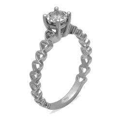 Ring aus 585 Weissgold mit einem 0,12 Karat Diamanten