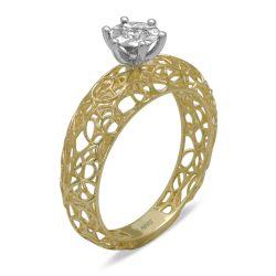 Ring aus 585 Gelbgold mit einem 0,08 Karat Diamanten