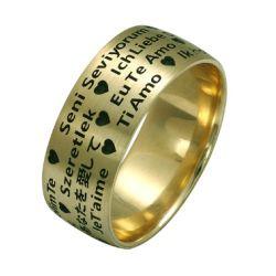 """Ring aus 585 Gelbgold mit Aufdruck """"Ich liebe dich"""""""